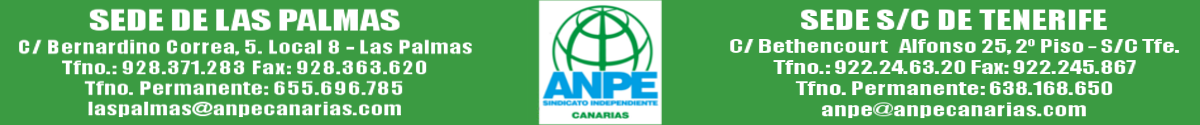 ANPE CANARIAS Sindicato Independiente